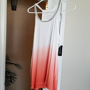 INC Tank top with sequin neckline and ombre fade